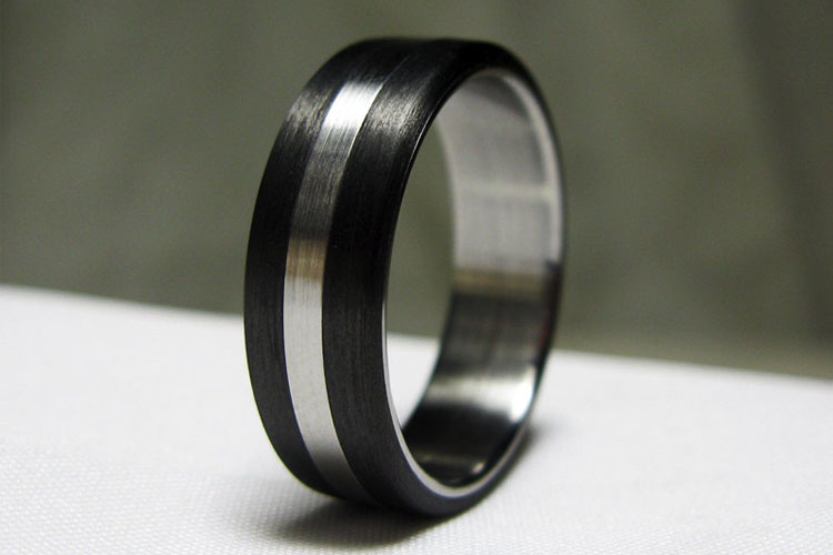 Carbon Fiber And Stainless Steel Ring By Origin