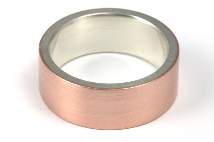 Modern Rose Gold and Silver Men's Wedding Ring | Jesse Danger