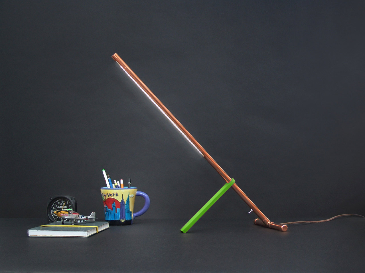 Copper Stake Lamp