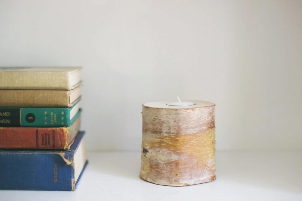 Alaskan Birch Tea Light Candle Holder by Great Land Woodworking