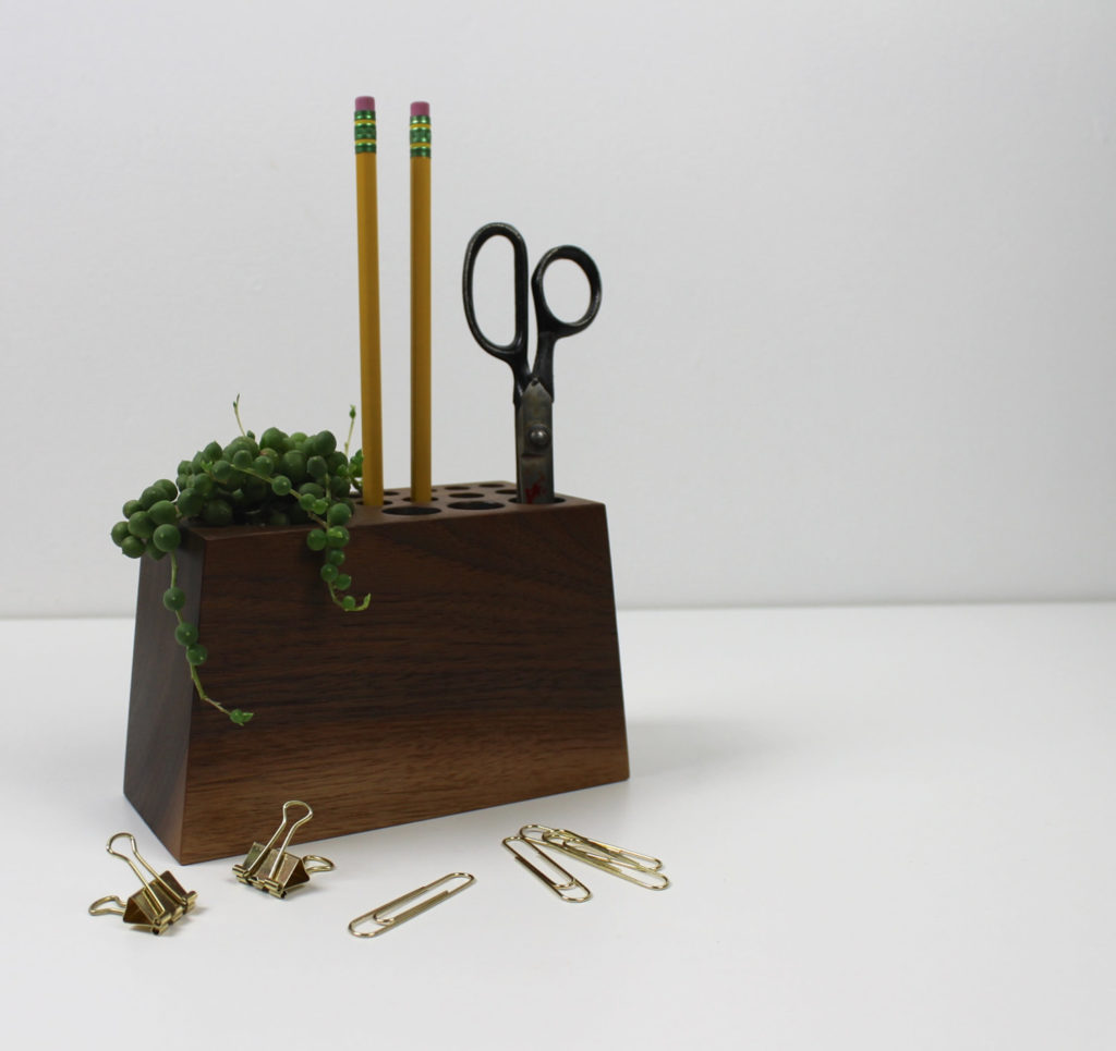 Modern Wood Desk Organizer by Gold Heart Supply