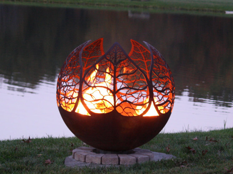 Autumn Sunset Fire Pit By The Gallery