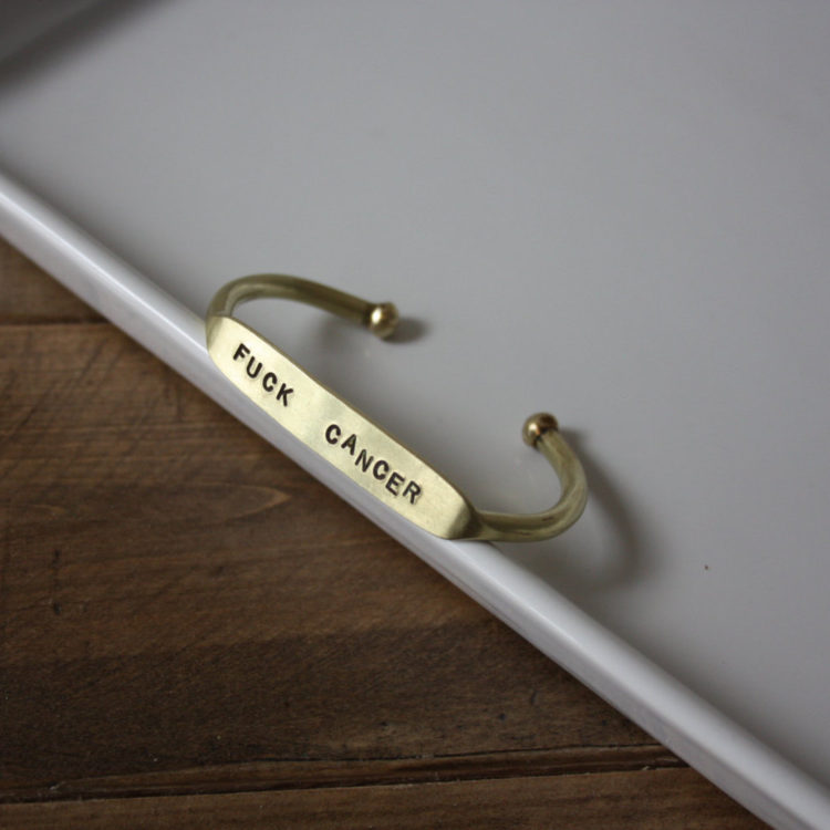 Fuck Cancer Bracelet by The Curated Gift Shop