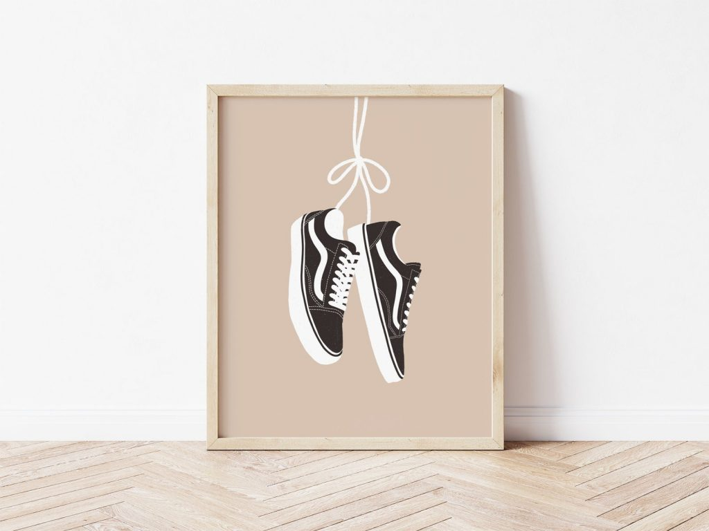 Low Top VANS Sneakers Poster by Avery Kate