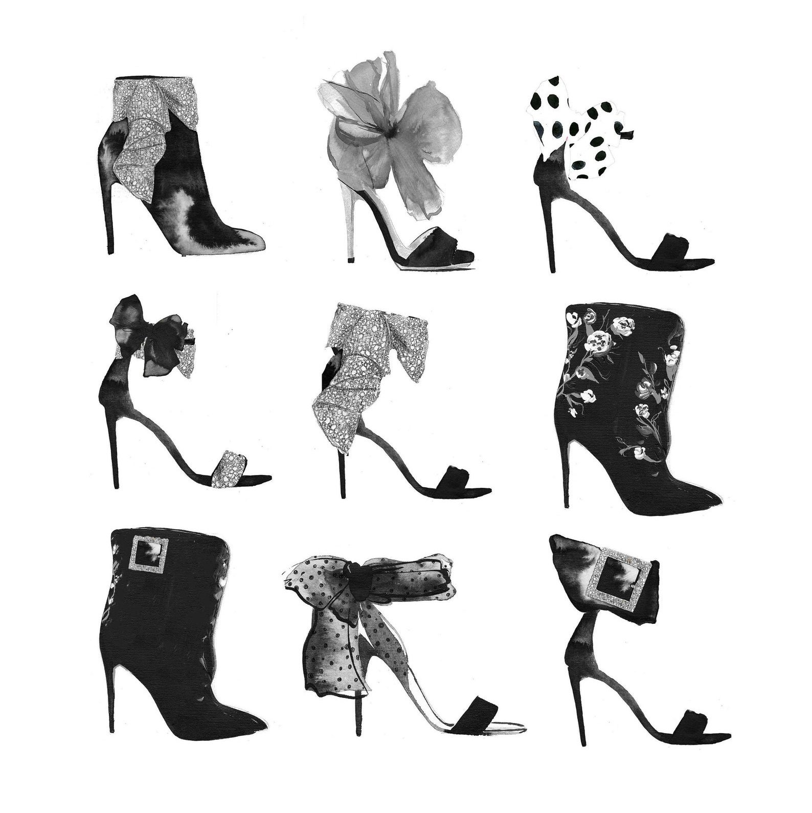 Shoe Heaven Illustration Print by Jessica Durant