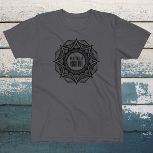 Breathe In Rock Out Mandala tee tshirt yoga top mens tshirt womens unisex tee