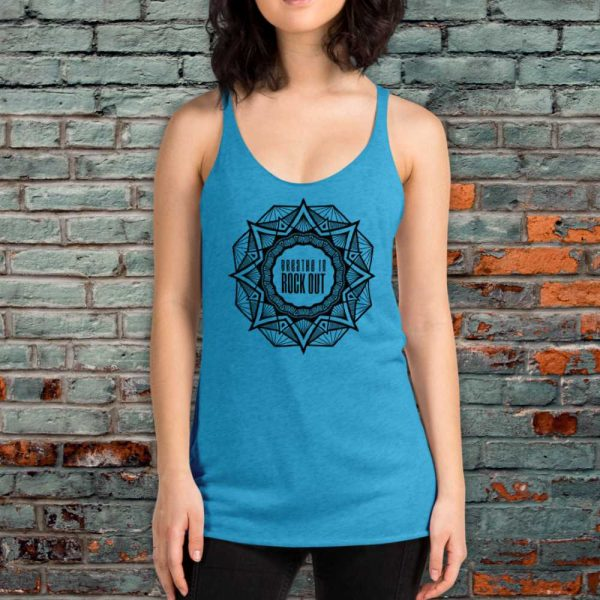 Breathe In Rock Out Mandala Art Yoga Top