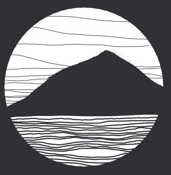 The Shore Digital Linocut Print