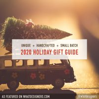 2020 Holiday Gift Guide for unique handmade handcrafted small batch gifts